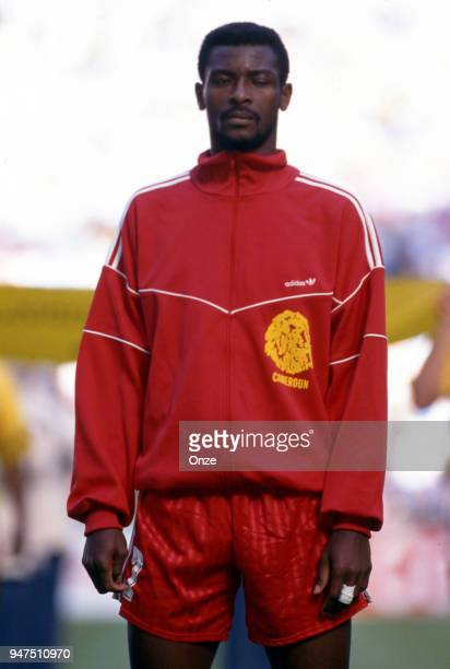 Francois Omam Biyik of Cameroon during the opening match of the 1990 World Cup between Cameroon and Argentina at Stade Giuseppe Meazza Milano Italy...