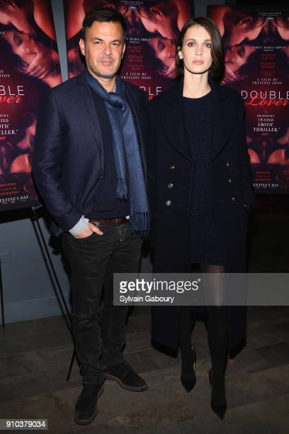 Francois Ozon and Marine Vacth attend Cohen Media Group with The Cinema Society host the New York Premiere of Double Lover at Quad Cinema on January...