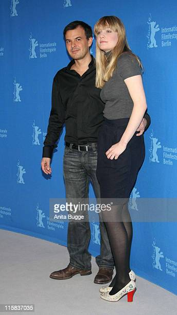 Francois Ozon and Romola Garai during 57th Berlinale International Film Festival 'Angel' Photo Call and Press Conference at Grand Hyatt Hotel in...