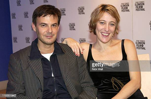 Francois Ozon and Valeria BruniTedeschi during The Times BFI London Film Festival 2004 '5x2' French Gala at Odeon West End in London Great Britain