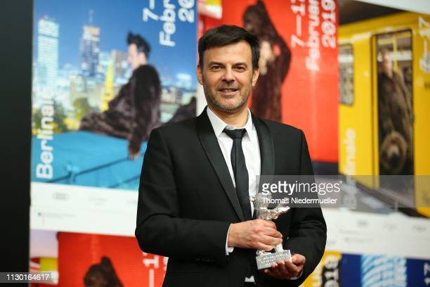 Francois Ozon winner of the Silver Bear Grand Jury Prize for By the Grace of God attends the award winners press conference during the 69th Berlinale...