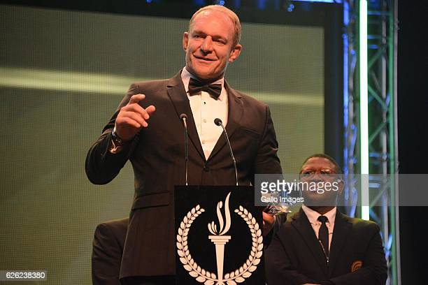 Francois Pienaar during the SA Sports Awards on November 27 2016 in Bloemfontein South Africa The 2016 SA Sport Awards recognise outstanding sporting...