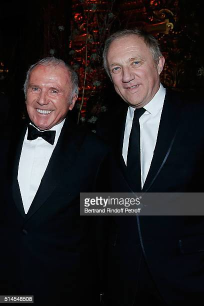 Francois Pinault and Francois-Henri Pinault attend the Arop Charity Gala At the Opera Garnier under the auspices of Madam Maryvonne Pinault on March...