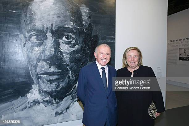 Francois Pinault and his wife Maryvonne Pinault attend the 'Picasso Mania' : Press Preview. Held at Grand Palais on October 4, 2015 in Paris, France.