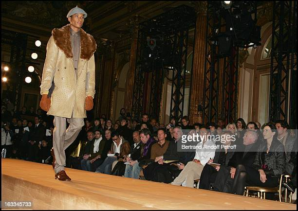 Francois Pinault and L'Wren Scott at Yves Saint Laurent Pret A Porter Menswear Catwalk Show Autumn Winter 2006/2007 Collection.