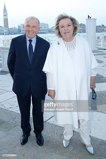 Francois Pinault and Maryvonne Pinault attends the Dinner At 'Fondazione Cini Isola Di San Giorgio' 2015 Venice Biennale on May 6 2015 in Venice Italy