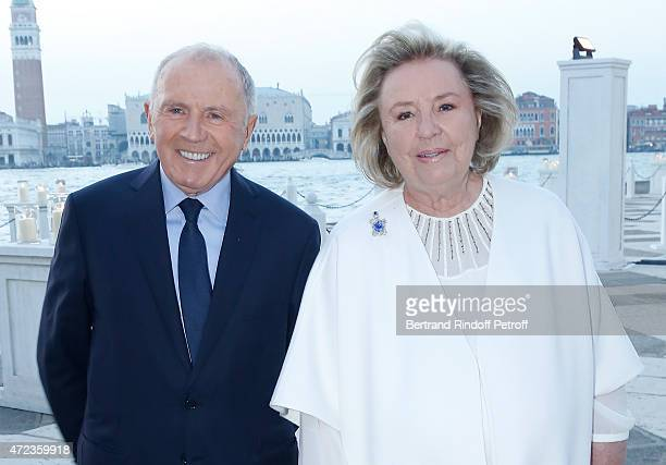 Francois Pinault and Maryvonne Pinault attends the Dinner At 'Fondazione Cini, Isola Di San Giorgio', 2015 Venice Biennale on May 6, 2015 in Venice,...