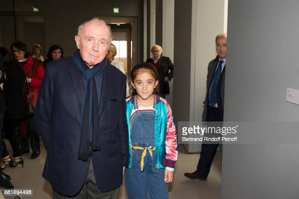 Francois Pinault and Valentina Pinault attend Damien Hirst's exibition at Pallazzo Grassi during the 57th Venice Biennale on May 10, 2017 in Venice,...