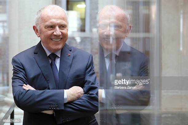 Francois Pinault attends the official opening of 'Martial Raysse' exhibition at Palazzo Grassi on April 11, 2015 in Venice, Italy.