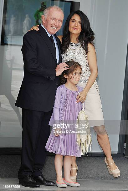 Francois Pinault Valentina Pinault and Salma Hayek attend Prima Materia VIP Preview on May 29 2013 in Venice Italy