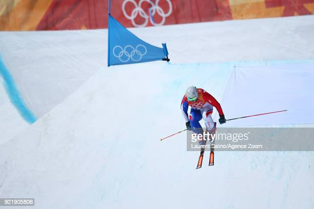 Francois Place of France competes during the Freestyle Skiing Men's Seeding Round Ski Cross at Pheonix Snow Park on February 21 2018 in...