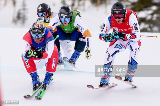Francois Place of France takes 1st place Jonas Lenherr of Switzerland competes Victor Oehling Norberg of Sweden competes during the FIS World...
