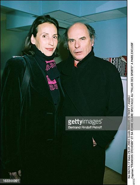Francois Stevenin and his wife Claire show at the Palais Des Sports in Paris