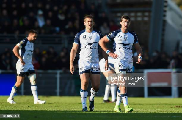 Francois Steyn and Henri Immelman of Montpellier during the Top 14 match between La Rochelle and Montpellier on December 2 2017 in La Rochelle France
