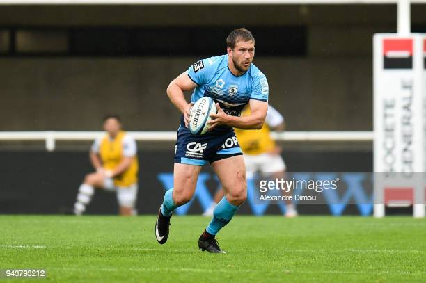 Francois Steyn of Montpellier during the French Top 14 match between Montpellier and La Rochelle at Altrad Stadium on April 8 2018 in Montpellier...