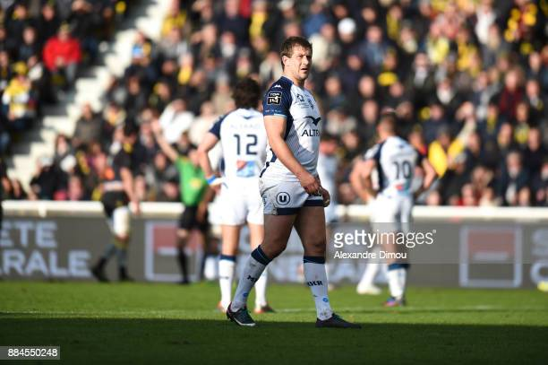 Francois Steyn of Montpellier during the Top 14 match between La Rochelle and Montpellier on December 2 2017 in La Rochelle France