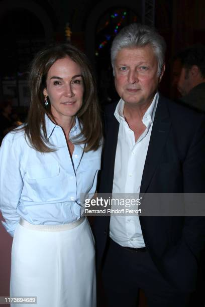 Francois Tajan and his wife Veronique Tajan attend the Kamel Mennour Clemence Didier Krzentowski Galerie 20 Printemps En Automne Anniversary at...