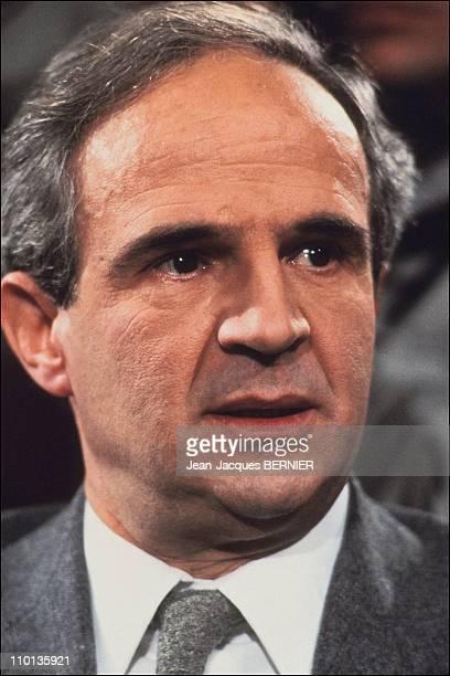 Francois Truffaut in 'Apostrophes' in Paris France on April 08 1983