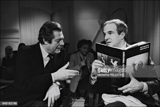 Francois Truffaut with Marcello Mastroianni