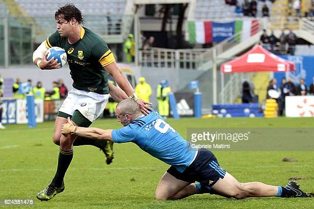 Francois Venter of South Africa in action during the international match between Italy v South Africa at Stadio Olimpico on November 19 2016 in Rome...