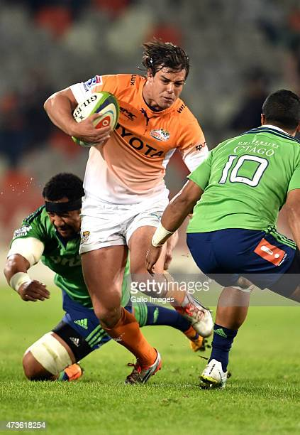 Francois Venter of the Cheetahs during the Super Rugby match between Toyota Cheetahs and Highlanders at Free State Stadium on May 16 2015 in...