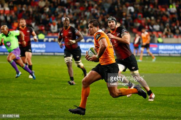 Francois Venter of the Cheetahs during the Super Rugby match between Southern Kings and Toyota Cheetahs at Nelson Mandela Bay Stadium on July 14 2017...
