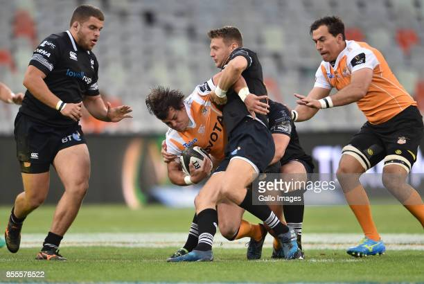 Francois Venter of the Toyota Cheetahs during the Guinness Pro14 match between Toyota Cheetahs and Ospreys at Toyota Stadium on September 29 2017 in...