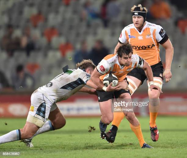 Francois Venter of the Toyota Cheetahs during the Guinness Pro14 match between Toyota Cheetahs and Glasgow Warriors at Toyota Stadium on October 06...