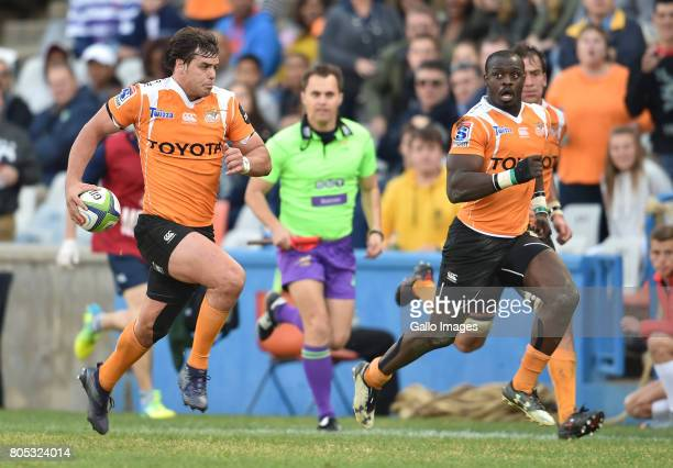 Francois Venter of the Toyota Cheetahs during the Super Rugby match between Toyota Cheetahs and DHL Stormers at Toyota Stadium on July 01 2017 in...
