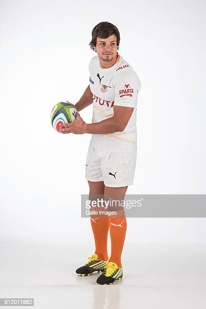 Francois Venter poses during the 2016 Super Rugby Cheetahs headshots session on February 24 2016 in Bloemfontein South Africa