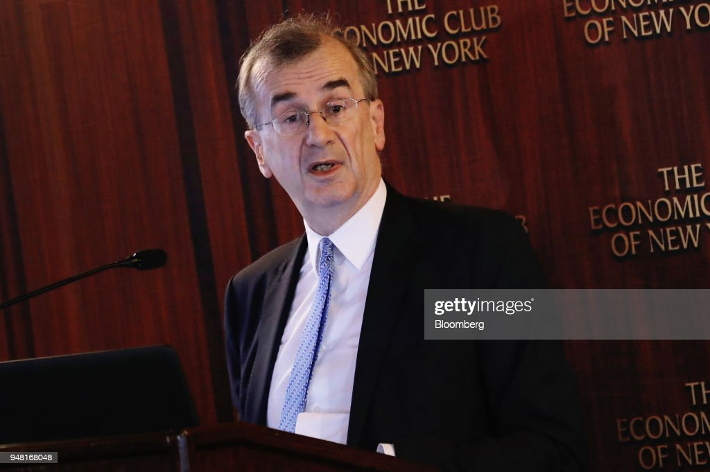 Bank Of France Governor Francois Villeroy de Galhau Speaks At ECNY Breakfast