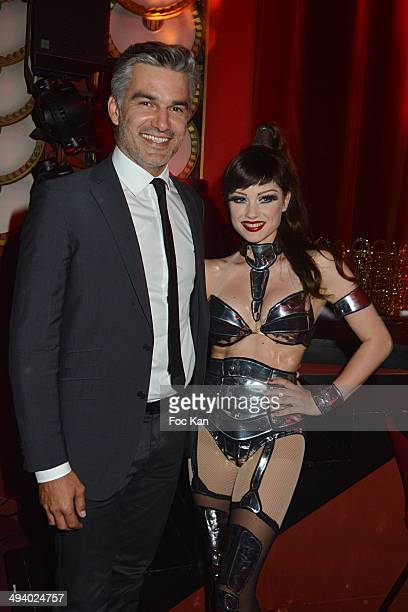 Francois Vincentelli and Alice Dufour attend 'Mugler Follies' 100th Edition at Le Comedia on May 26 2014 in Paris France