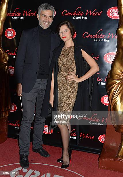 Francois Vincentelli and Alice Dufour attend the Conchita Wurst Crazy Horse Show Red Carpet Arrivals In Paris At the Crazy Horse Saloon on November 9...