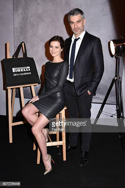 Francois Vincentelli and Alice Dufour attend the 'Pirelli Calendar by Annie Leibovitz' Launch Party At Hotel National Des Invalides on January 27...
