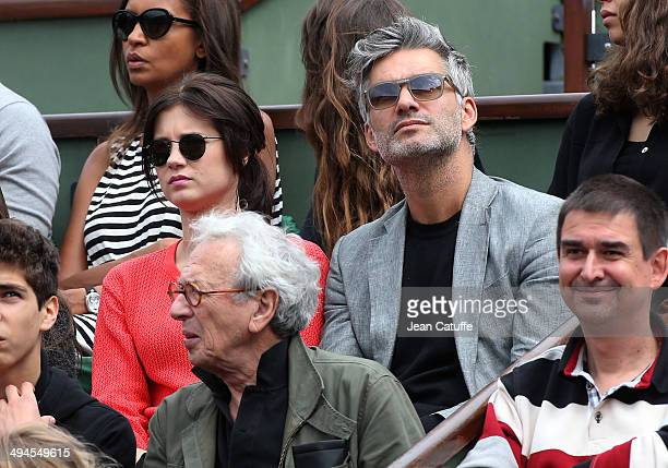Francois Vincentelli and girlfriend Alice Dufour attend Day 5 of the French Open 2014 held at RolandGarros stadium on May 29 2014 in Paris France