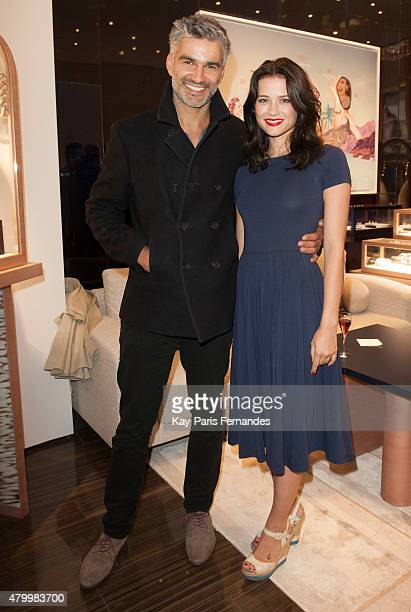 Francois Vincentelli and guest attend the Fred Boutique Opening as part of Paris Fashion Week Haute Couture Fall/Winter 2015/2016 on July 8 2015 in...