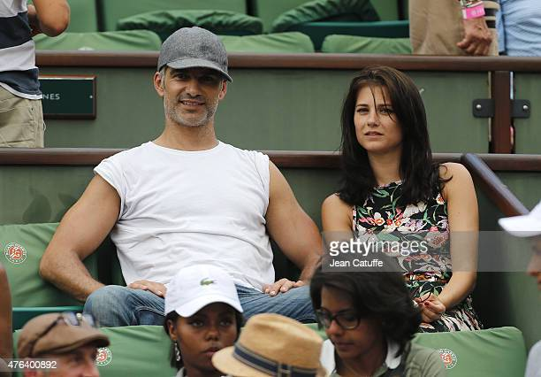 Francois Vincentelli and his girlfriend Alice Dufour attend day 13 of the French Open 2015 at Roland Garros stadium on June 5 2015 in Paris France