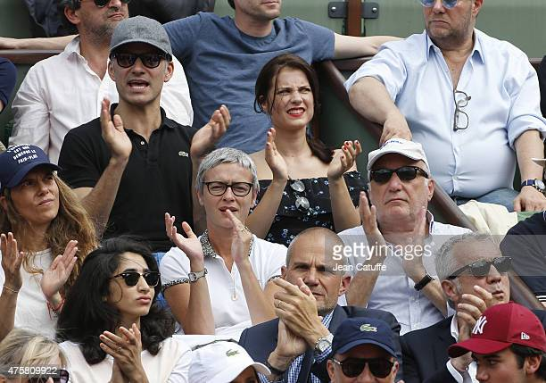 Francois Vincentelli and his girlfriend Alice Dufour below Francois Berleand and his girlfriend Alexia Stresi attend day 10 of the French Open 2015...