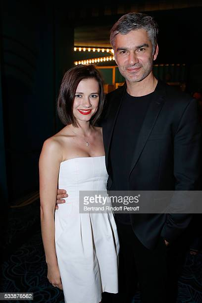 Francois Vincentelli and his wife Alice Dufour attend 'La 28eme Nuit des Molieres' on May 23 2016 in Paris France