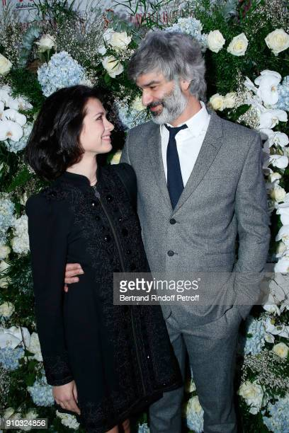Francois Vincentelli and his wife Alice Dufour attend the 16th Sidaction as part of Paris Fashion Week on January 25 2018 in Paris France