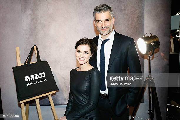Francois Vincentelli and his wife Alice Dufour attend the 'Pirelli Calendar by Annie Leibovitz' Launch Party At Hotel National Des Invalides on...