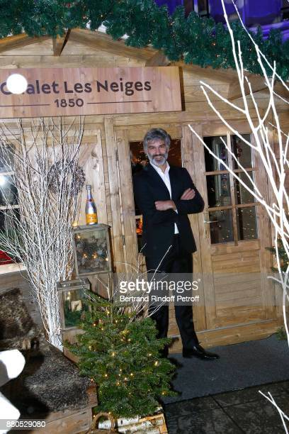 Francois Vincentelli attends the Inauguration of the Chalet Les Neiges 1850 on the terrace of the Hotel Barriere Le Fouquet's Paris on November 27...