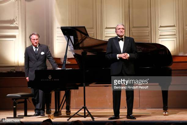 Francois Weigel and Opera Singer Ruggero Raimondi perform during the celebration of the 10th Anniversary of the 'Fondation Prince Albert II De...