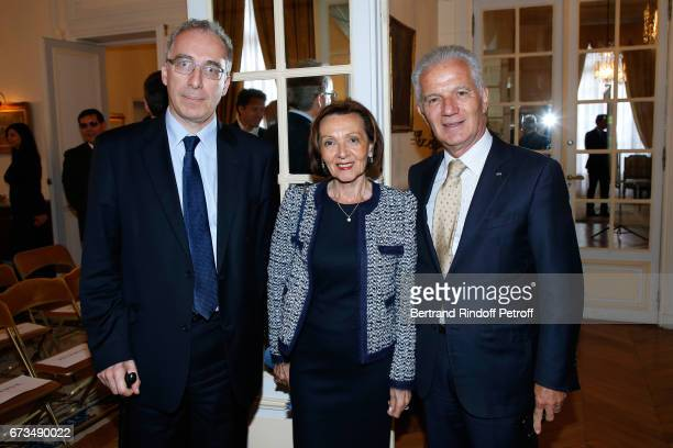 Francois Weil Ambassador of the Prince of Monaco Claude Cottalorda attend the presentation of the Book 'Scenes De Crime au Louvre' written by...