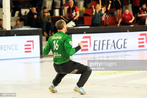 Francois Xavier Chapon of Ivry celebrates during the Lidl Starligue match between Ivry and Chambery on March 7 2018 in IvrysurSeine France