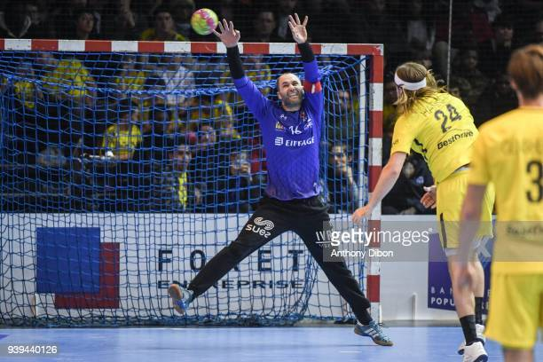 Francois Xavier Chapon of Ivry during the Lidl Star Ligue match between Ivry and Paris Saint Germain on March 28 2018 in Paris France