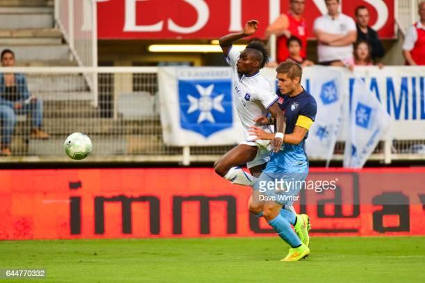 Francois Xavier FUMU TAMUZO / Maxime LE MARCHAND - - Auxerre / Le Havre - 1e journee Ligue 2, Photo : Dave Winter / Icon Sport