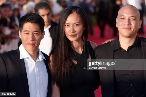 Francois Yang Xin Wang Frederic Siuen attend closing ceremony red carpet of 31st Cabourg Film Festival on June 17 2017 in Cabourg France