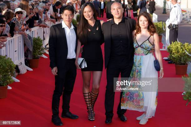 Francois Yang Xin Wang Frederic Siuen Audrey Bastien attend closing ceremony red carpet of 31st Cabourg Film Festival on June 17 2017 in Cabourg...