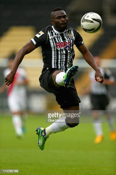 Francois Zoko of Notts County in action during the pre season friendly match between Notts County and Rayo Vallecano at Meadow Lane on July 23 2013...